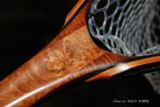 Sierra Nets Custom Fly Fishing Net- Eucalyptus Burl, Curly Mahogany, Cherry & Wenge